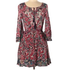 Flying Tomato Boho Dress Bell Sleeves Embroidery